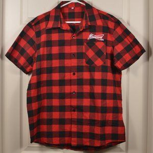 Budweiser L Gingham Party Shirt Lumberjack Plaid